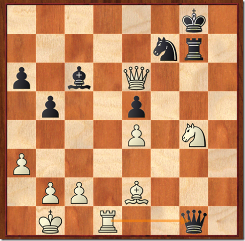 Position after white played 40. Rd1 and black resigned.