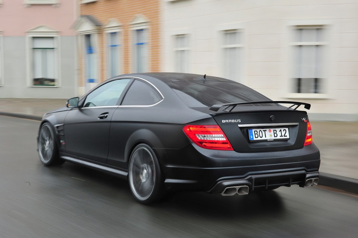 Brabus Bullit Coupe 800 is a Mercedes C63 AMG Coupe with a V12 on