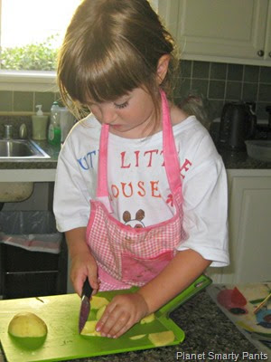 Learning to cut vegetables