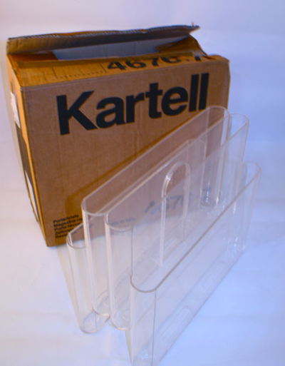 Kartell Stoppino 4676 magazine rack