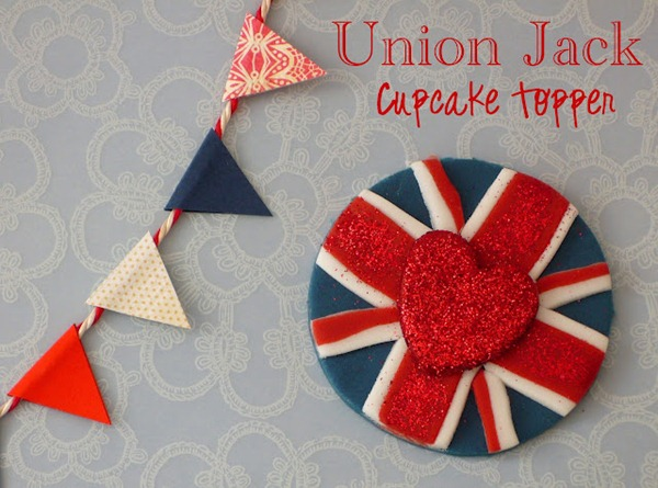 Union Jack Fondant Topper DIY