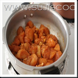 cook chicken with ingredients number 2 to 1 whistle