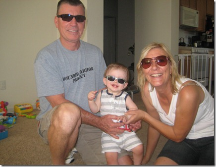 08 21 11 - Wearin' shades with Grampa & Nana (2)