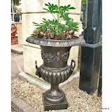 Średnia waza żeliwna, PL70, wys 78cm, śr 58cm, baza 24x24cm, 36kg