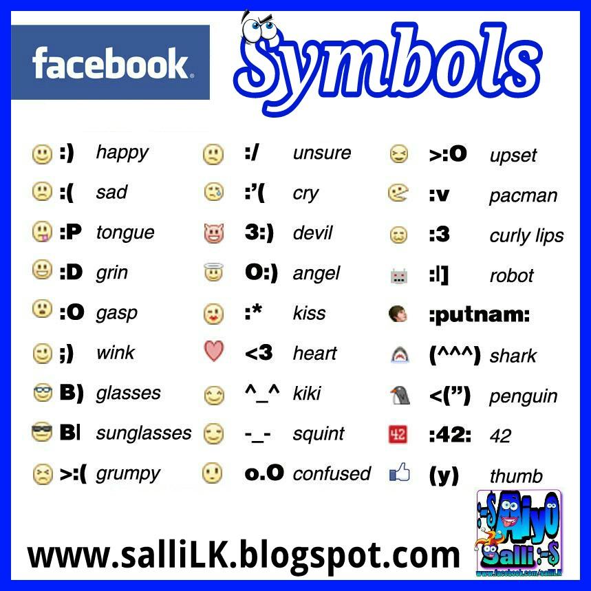 Symbols For Facebook Free Download Oasis Dl