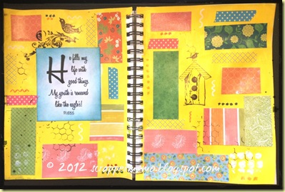 He fills my life journal pages a 2