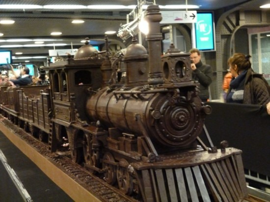 Trem de chocolate Belga 01