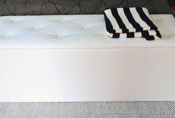 DIY tufted storage ottoman