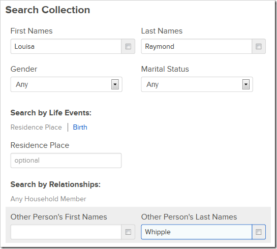 FamilySearch's Any Household Member feature