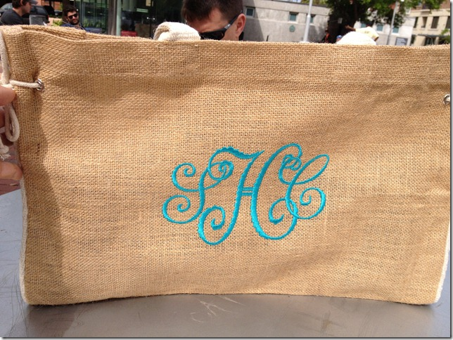 shannon monogrammed jute tote