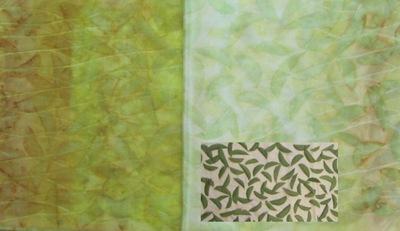 ECO PRINT Birnenblätter auf Wolle und Seide