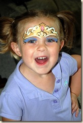 Princess madeline face paint