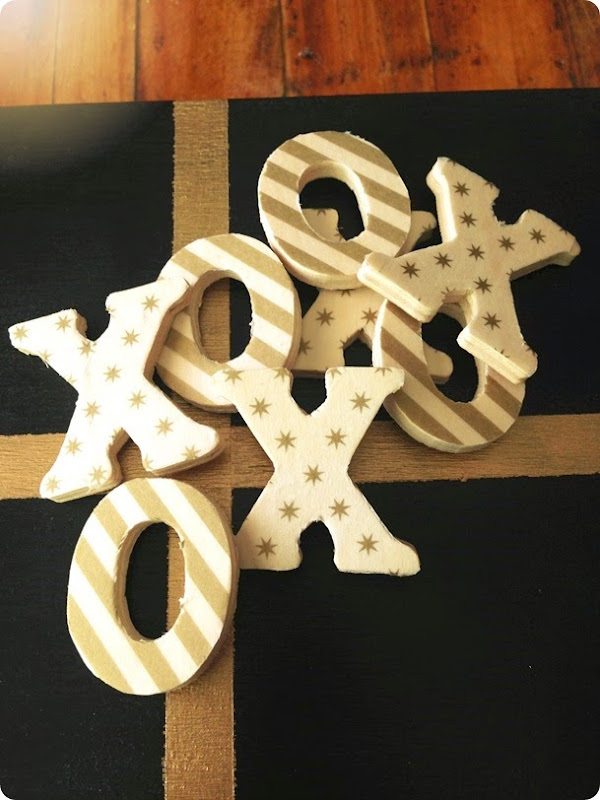 DIY TIC TAC TOE LETTERS FOR GAME