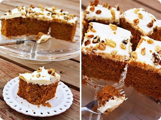 Pumpkin Spice Cake With Cinnamon Cream Cheese Frosting Recipes ...