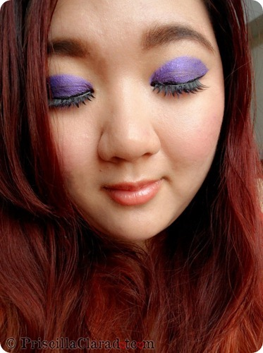 Priscilla Clara beauty blogger IBB MUC Maybelline Color Tattoo Painted Purple eye makeup FOTD 3