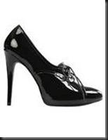 chaussures à talon vernis noir