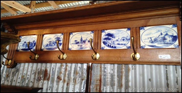 Delft tile coat rack