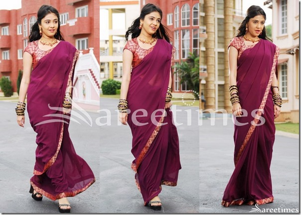 Rachana_Malhotra_Purple_Saree