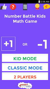 Number Battle Kids Math Game - screenshot
