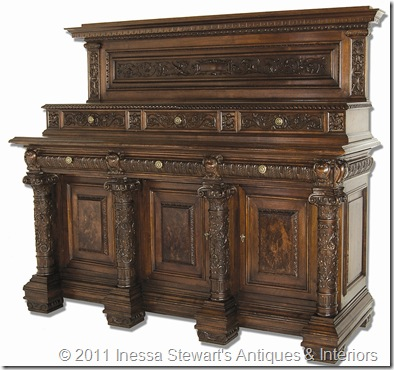 Antique Italian Renaissance Walnut Buffet