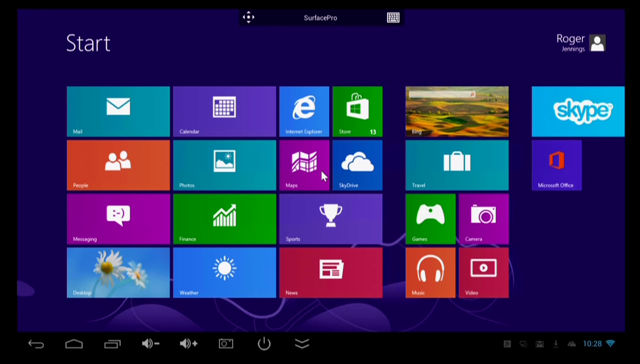 RD Client with Win8 Start Screen