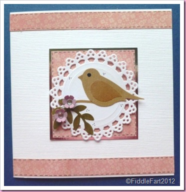 Bird Card Martha Stewart tags