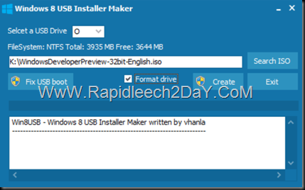 steps-Windows 8 USB Installer Maker - figure 3