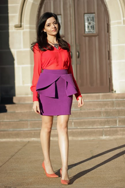 Coral Color Blocking