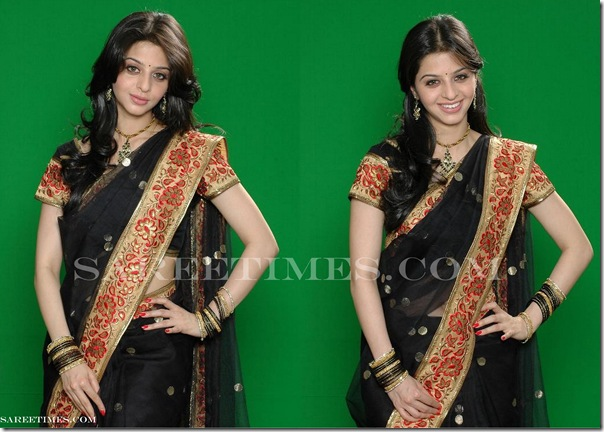 Vedika_Black_Saree