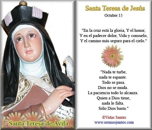 Frases De Santa Teresa D Avila