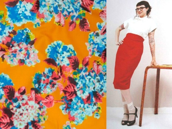 Floral Skirt Collage Su Sews So So