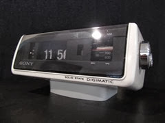 Sony Digimatic flip alarm clock radio
