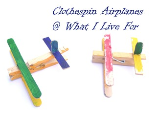 Clothespin Airplane @ whatilivefor.net