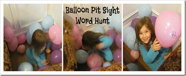 Balloon Pit Sight Word Hunt