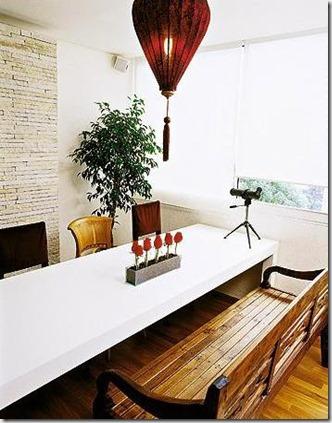 sala jantar banco e cadeiras