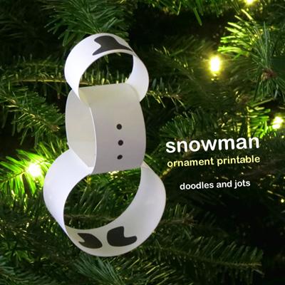 Minimalist-Snowman-Ornament-Printable