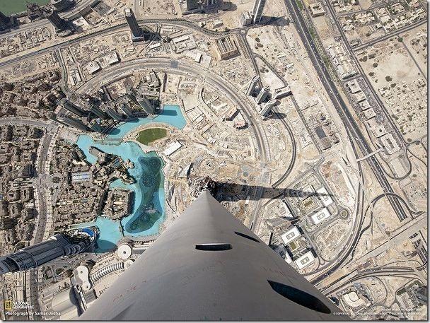 從163層高樓往下看原來是這幅景象。