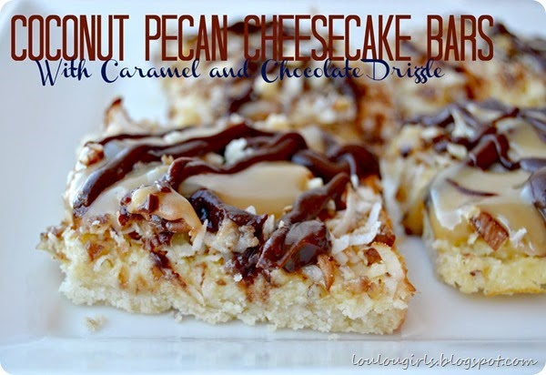 Caramel-Coconut-Pecan Cheesecake Bars - Chew Nibble NoshChew Nibble ...