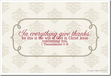 I Thessalonians 5:18 4x6 printable for personal use