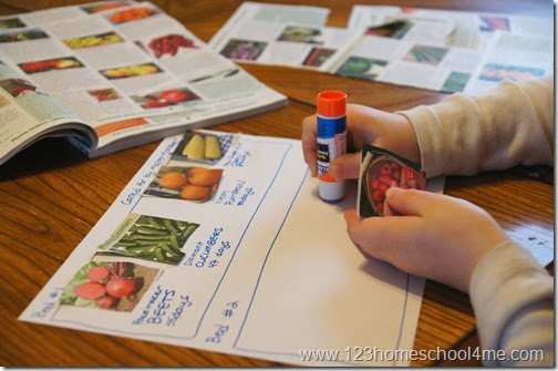 Help kids plan their vegetable Garden