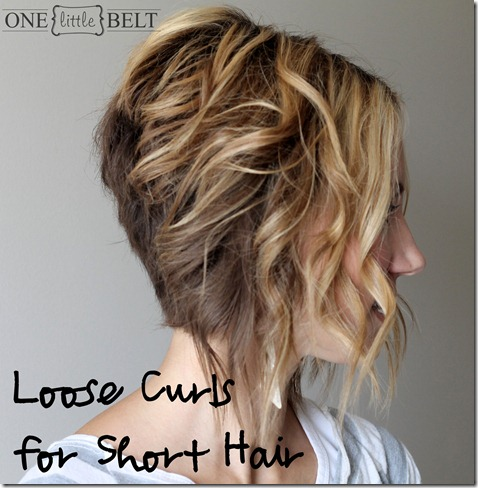 Loose Waves for Short Hair Title