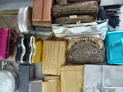 Lots of clutches in every texture and color.