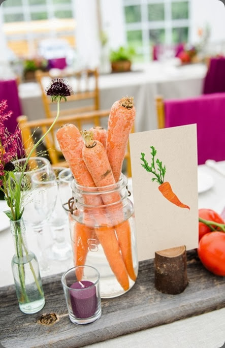 foodie Vegetables Used In Wedding Centerpieces valley flower company