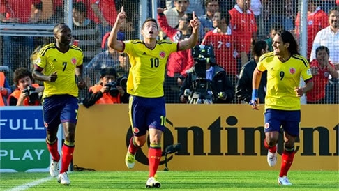 Partido amistoso Colombia vs Túnez