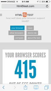 iOS HTML5 Test