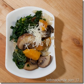 kale Quinoa Mushrooms2