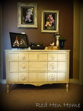 off-white antique dresser