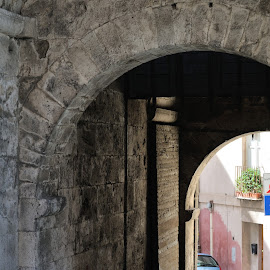 The entry poin is everywhere by Victor Eliu - City,  Street & Park  Historic Districts ( cagliari, elephant porte, sardinia, italy, city )