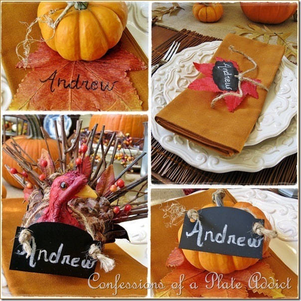 CONFESSIONS OF A PLATE ADDICT Thanksgiving Place Cards