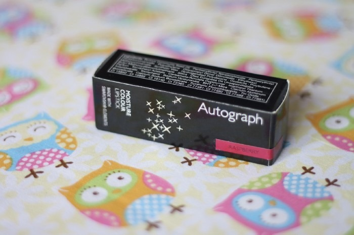 Review Autography Raspberry Swarovski Lipstick (1)